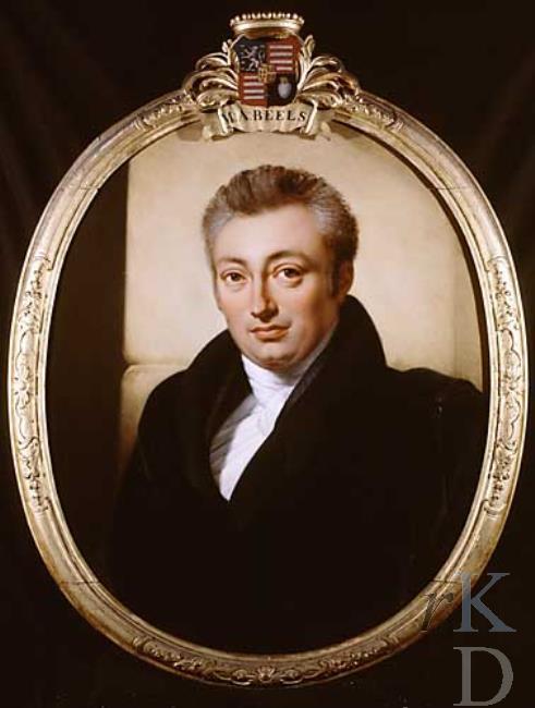 Mr. Marten Adriaan Beels, zoon van Leonard Beels en Johanna Jacoba van Oosten de Bruijn. (1790-1859). Ovaal door J.A.Kruseman (RKD-Den Haag)