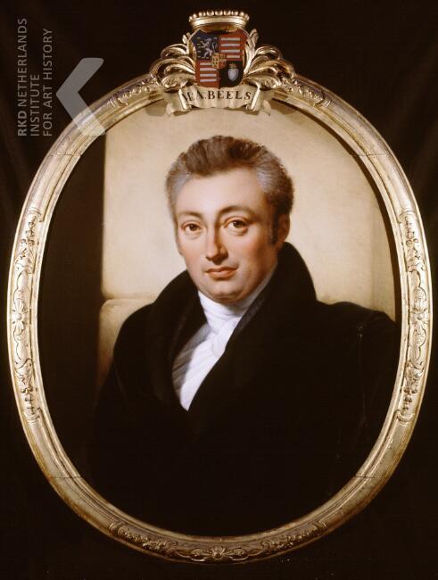 Geschilderd portret van Marten Adrian Beels (1790-1859) door Jan Adam Kruseman uit 1825