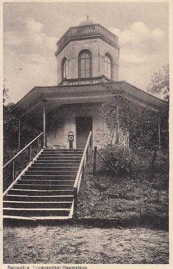 Belvedère op een ansichtkaart uit 1920