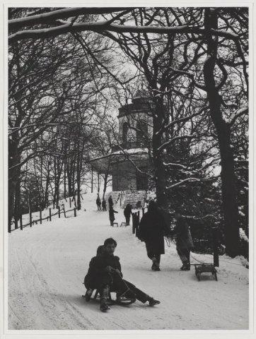 De Belvedere in wintertooi. 1960
