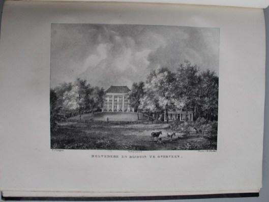 De hofstede Belvedere en Bijduin in Overveen, behorend aan A.Pluijm te Amsterdam (P.J.Lutgers)