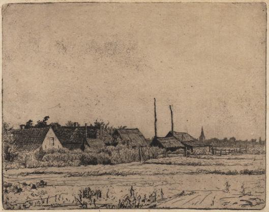 Boerderij bij Bennebroek, getekend door Jan Coenraad Nachenius (1890-1897) 1918 (Teylers Museum)