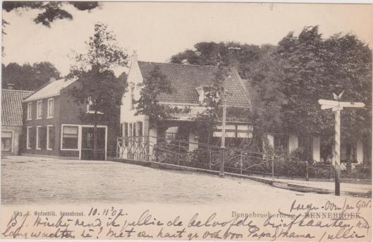 Ansichtkaart uit 1902 van de Bennebroekerbrug