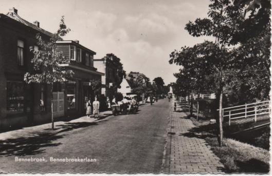 Ansichtkaart van Bennebroekerlaan, Bennebroek