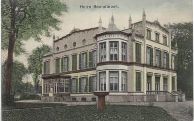 Ansichtkaart van het Huis te Bennebroek nog in volle glorie