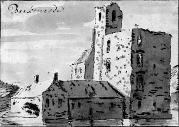 Ruïne van Berkenrode; door Van Meiling (UB-Leiden)