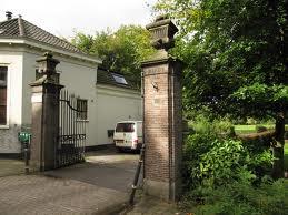 Monumentaal toegangshek naar landgoed Berkenrode