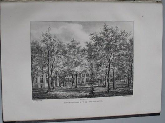 Huize Berkenrode vanuit de overplaats (P.J.Lutgers, circa 1840)