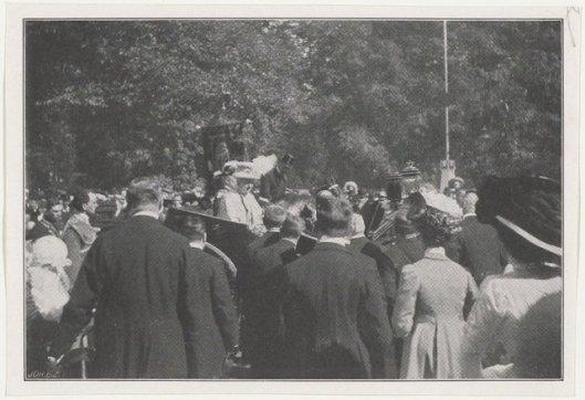 Bezoek koningin Wilhelmina en prins Hendrik aan Heemstede en Groenendaal, 26 mei 1910