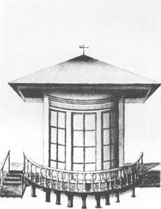 De voormalige koepel van Huis te Bijweg nabij de Leidsevaart in de tijd van Johan Valckenaer, 25vb januari 1821 in Bennebroek overleden.