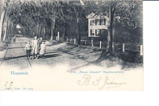 Binnenweg en villa 't Nieuw Clooster, circa 1915
