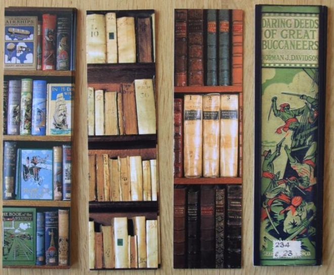 4 boekenleggers van Bodleian library in Oxford