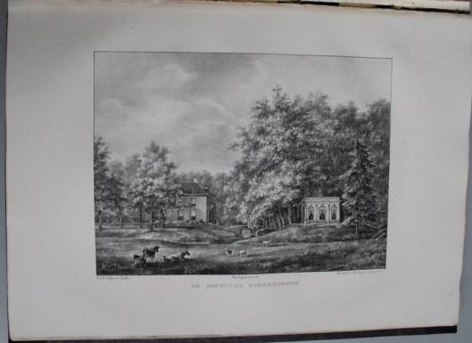 De hofstede Boekenrode in den Aerdenhout op de grens van Heemstede. In 1844 toebehorend aan het nageslacht van de heer P.van Lennep (P.J.Lutgers)