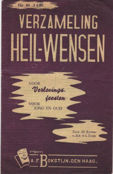 ' Verzameling Heil-wensen', uitgegeven door A.F.Bokstijn in Den Haag