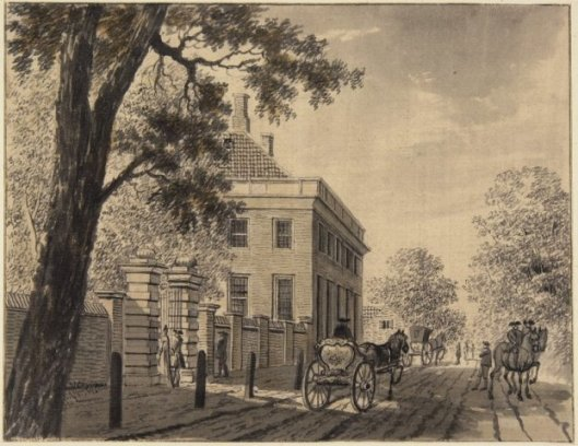 Bos en Vaart aan de Wagenweg/Herenweg onder Heemstede. Tekening door Claes Janszoon Visscher, 1607 (Noord-Hollands Archief)
