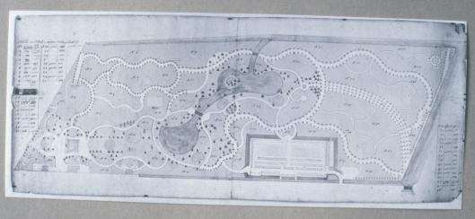 Bosbedrijfskaart Oud Berkenrode Heemstede 1797-1806 (Chart Room)