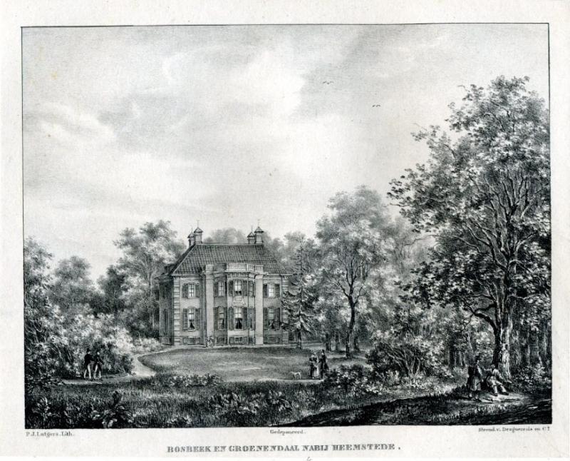Bosbeek, in eigendom van de familie Hope (P.Lutgers)