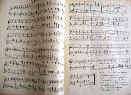 Partituur van FL:ORA-Marsch uit 1925 (Ruud van der Moolen)