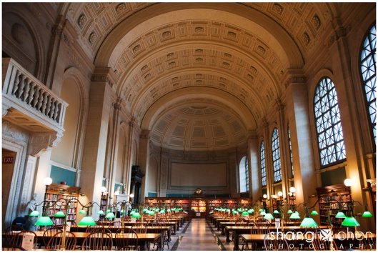Leeszaal Boston Public Library, USA