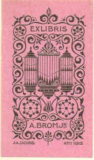 Exlibris A.Brom jr. 1912