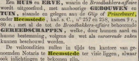 18e eeuws bericht over bakkerijnering de Glip
