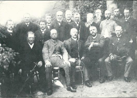 Burgersociëteit ofwel Herensociëteit Heemstede op een foto uit 1890