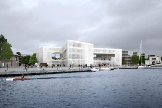 Ontwerp voor mediatheek in Caen door Rem Koolhaas