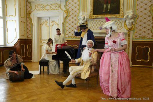 Casanova nagespeeld in het kasteel van Dux in 2012