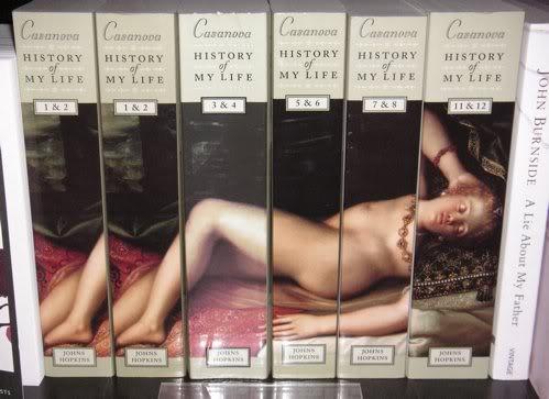 12 delen van Engelstalige uitgave van 'History of my life' door Casanova