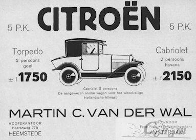 Advertentie van Martin van der Wal met garage in Heemstede
