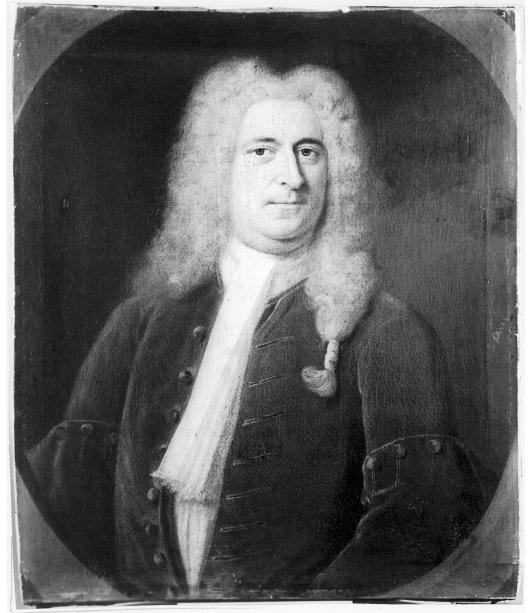 Geschilderd portret van bankier en mecenas George Clifford