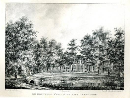 Hofstede 't Clooster op een steendruk van P.Lutgers (1837-1844)