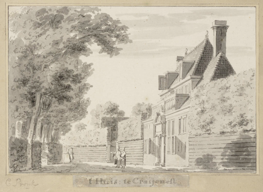 Huis te Crayenest door Cornelis Pronk (1691-1759) (Teylers Museum)
