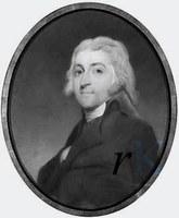 Portret door Charles Howard Hodjes van mr. Jan Pieter van Wickevoort. Hij trouwde 24 okt. 1790 in Heemstede Catharina van Lennep en kocht 29 september 1797 Berkenrode voor ƒ 64.000,-.