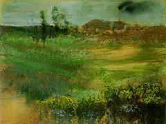 Degas: landschap met rokende schoorstenen