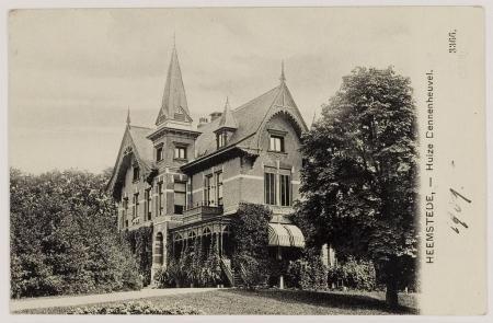 Dennenheuvel in Heemstede op een prentbriefkaart uit 1909