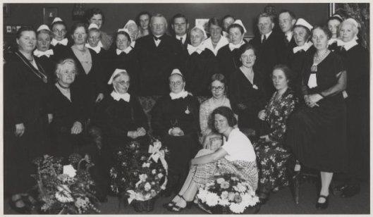 Jubilerende zusters van het Diaconessenhuis, 1934 (NHA)