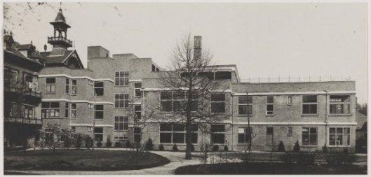 Nieuwe aanbouw Diaconessenhuis, Haarlem 1934