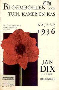 Jan Dix heeft talrijke publicaties over bloembollen en planten op zijn naam staan
