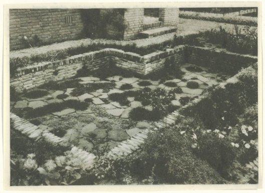 muurtuin voor villa van de heer Dix aan de Heemsteedse Dreef