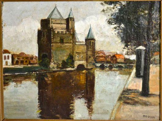 Een andere bekende kunstschilder die de vorige eeuw lange tijd in Bennebroek woonde was J.J.Doeser ofwel Jaap Doeser. Geboren in 1884 en overleden in 1970 te Bennebroek waar hij gastvrijheid genoot bij de familie Westrik in de Beukenlaan. Op deze foto zien we de door Doeser geschilderde Amsterdamse Poort in Haarlem.