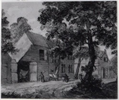 Het Dronkemanshuisje door Jurriaan Andriessen, 1757 (Amsterdam Museum)