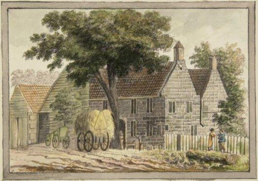 Het Dronkenhuisje. Anonieme tekening uit 1760 (NHA)