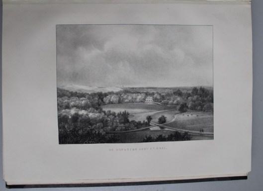 De hofstede Duin en Daal in Bloemendaal, aangelegd door J.D.Zocher nabij de destijds druk bezochte herberg Zomerzorg. In eigendom van mr.B.C.de Lange, lid van Gedeputeerde Staten van Noord-Holland (P.J.Lutgers)