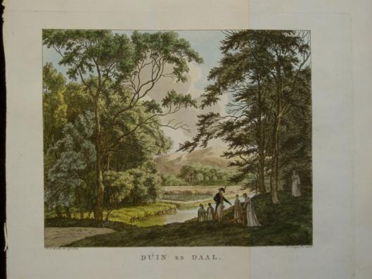 Duin en Daal; ets door F.A.Milztz. Uit: Adriaan Loosjes' Hollands Arkadia, 1804
