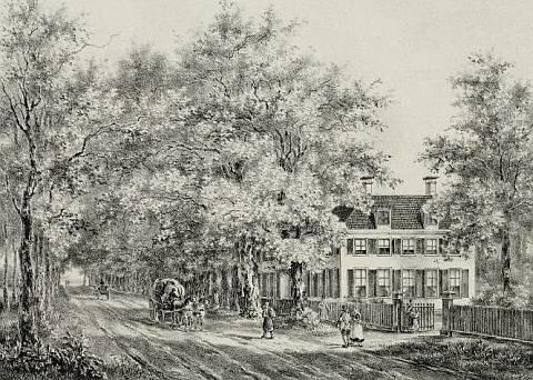 Duinlaan door P.J.Lutgers, circa 1842