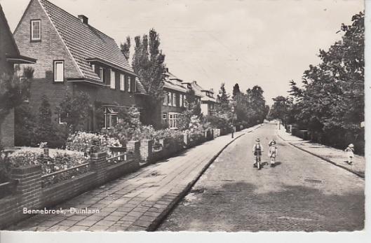 Ansichtkaart van Duinlaan in Bennebroek