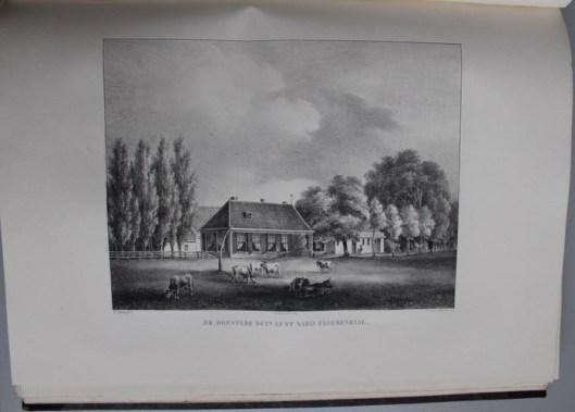 De hofstede Duinlust, in 1840 in eigendom van Jacobus Enschedé, gelegen in de gemeente Velsen (P.J.Lutgers)