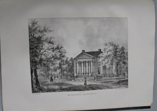 De hofstede Eindenhout, toebehorende aan de heer A.W.Baron van Brienen van de Groote Lindt, lid der Eerste kamer van de Staten Generaal (P.J.Lutgers)