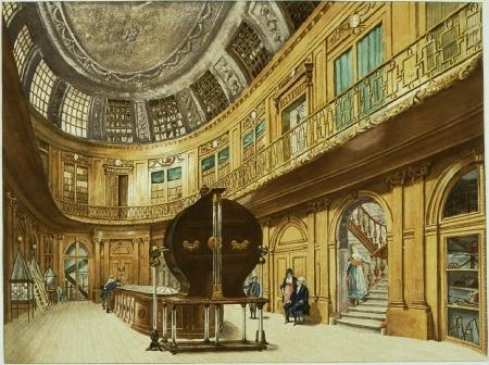 De elektriseermachine in Teylers naar een schilderij van W,Hendriks uit omstreeks 1800